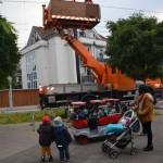 Kinder mit U1-Platz in Gerresheim auf dem Markt